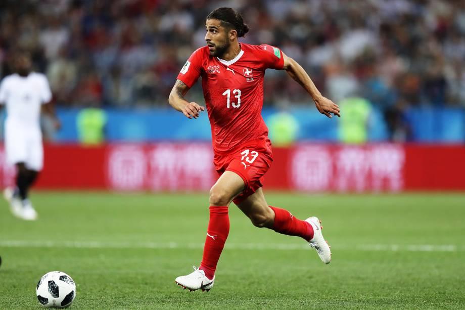 Ricardo Rodriguez da Suíça durante partida contra a Costa Rica - 27/06/2018