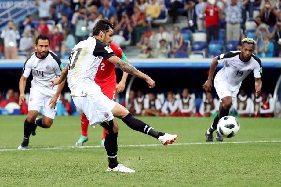 Bryan Ruiz marca segundo gol da Costa Rica em partida contra a Suíça - 27/06/2018
