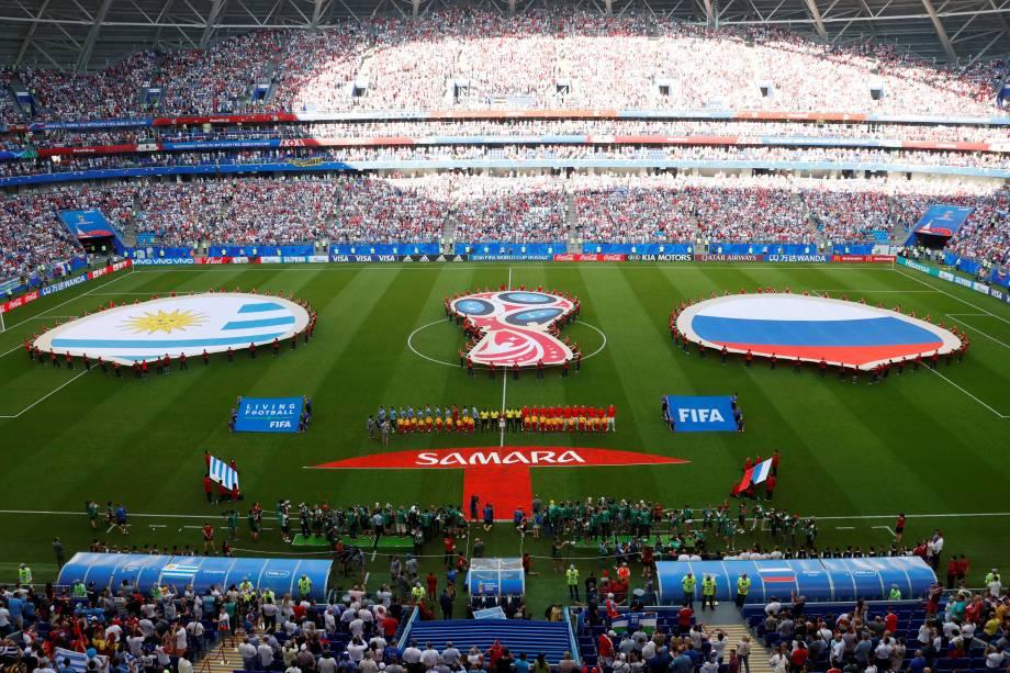 Uruguai e Rússia se enfrentam pela terceira rodada do grupo A na arena Samara - 25/06/2018