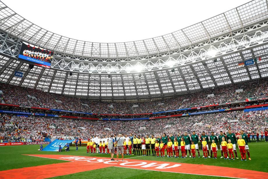 Alemanha e México se alinham antes de partida - 17/06/2018
