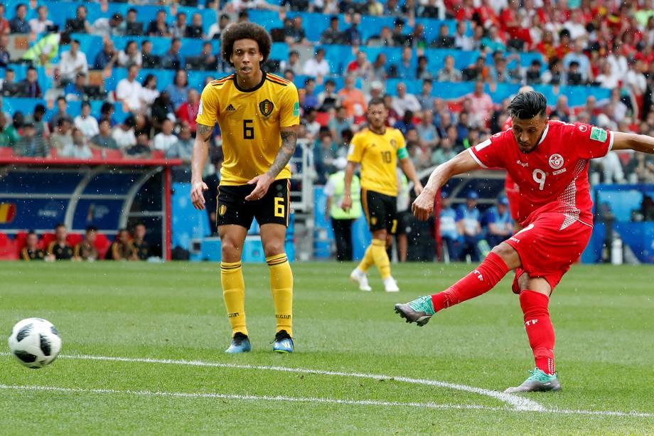 Anice Badri da Tunísia durante jogada em partida contra a Belgica - 23/06/2018