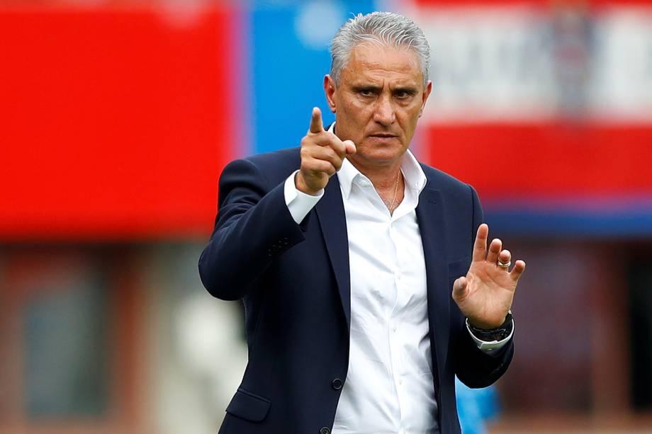 O técnico da Seleção Brasileira, Tite, durante partida amistosa contra a Áustria, realizada em Viena - 10/06/2018