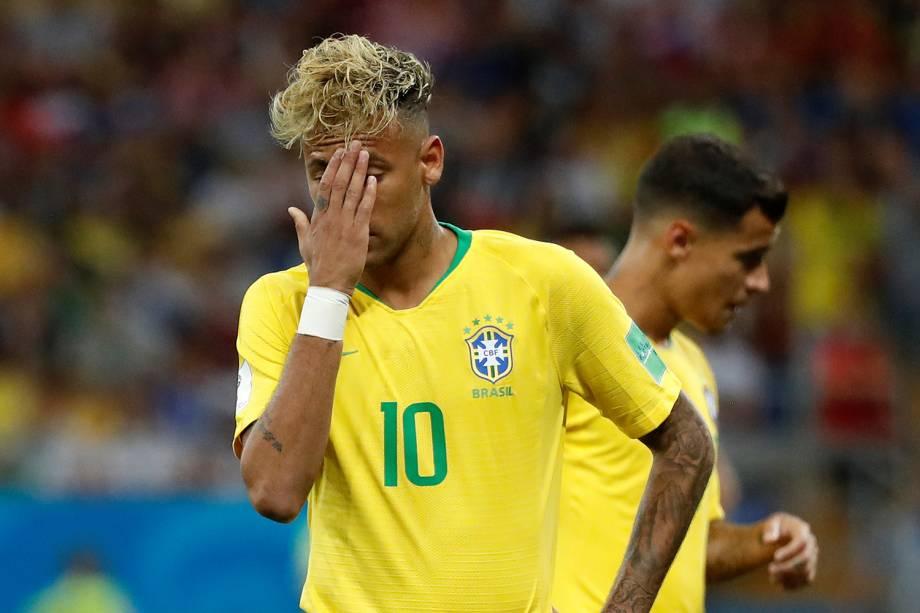 Neymar durante partida entre Brasil e Suíça, válida pelo grupo E da Copa do Mundo, realizada na Arena Rostov - 17/06/2018