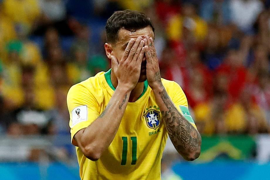 Philippe Coutinho durante partida entre Brasil e Suíça, válida pelo grupo E da Copa do Mundo, realizada na Arena Rostov - 17/06/2018