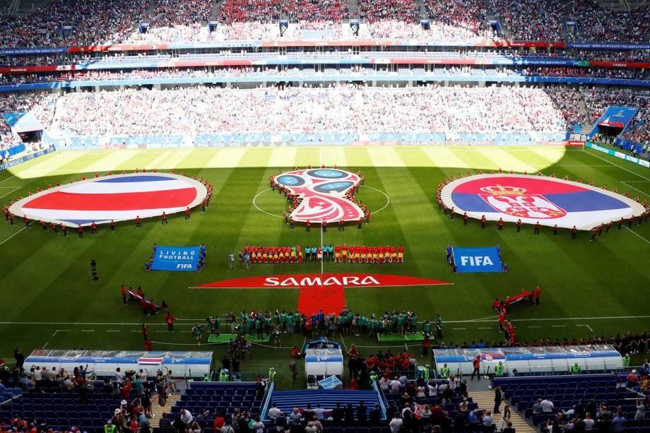 Costa Rica e Sérvia se alinham antes de partida - 17/06/2018