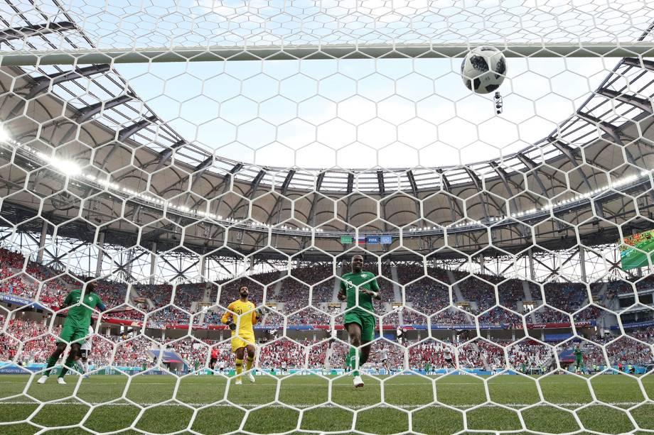 Mohamed Salah marca primeiro gol da partida contra a Arábia Saudita - 25/06/2018