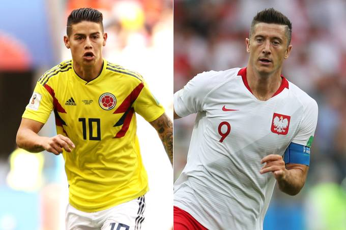 James Rodríguez e Lewandowski