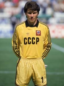 O ex-goleiro russo Rinat Dasayev, antes de partida contra a Bélgica, válida pela Copa do Mundo de 1986 - 15/06/1986