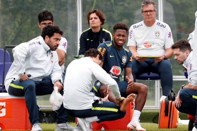 Treino seleção brasileira 2018