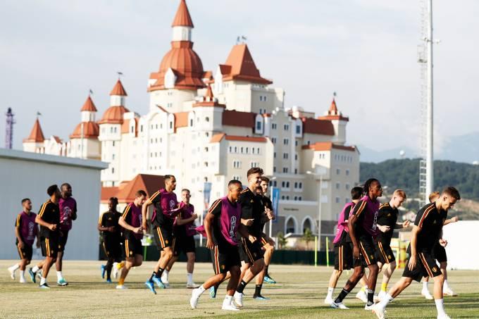 Seleção da Bélgica treina em Sochi