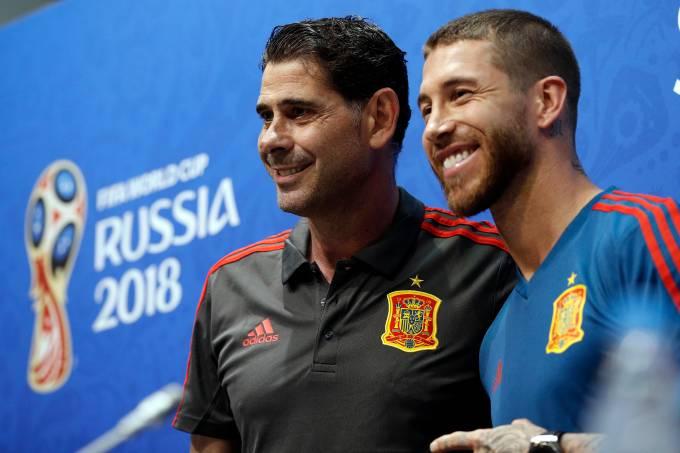 Hierro e Sergio Ramos