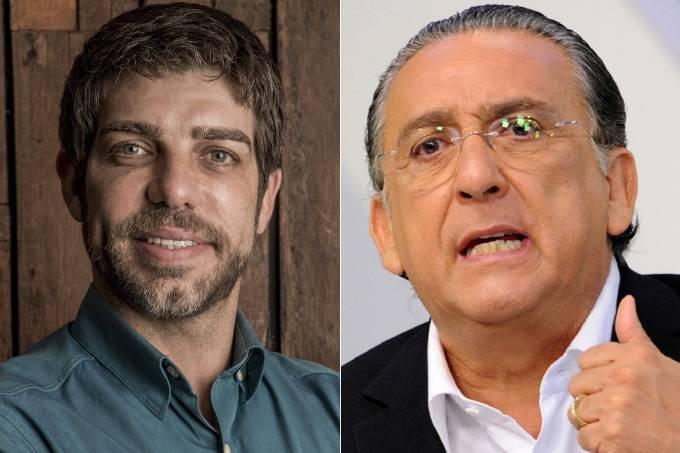 Juninho Pernambucano e Galvão Bueno