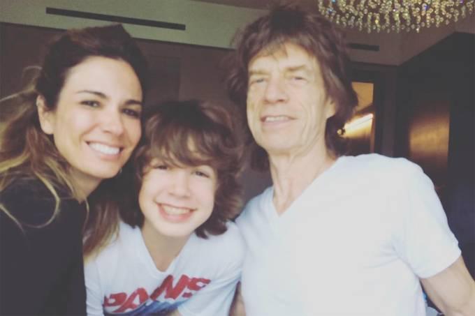 Luciana Gimenez posta foto com Mick Jagger