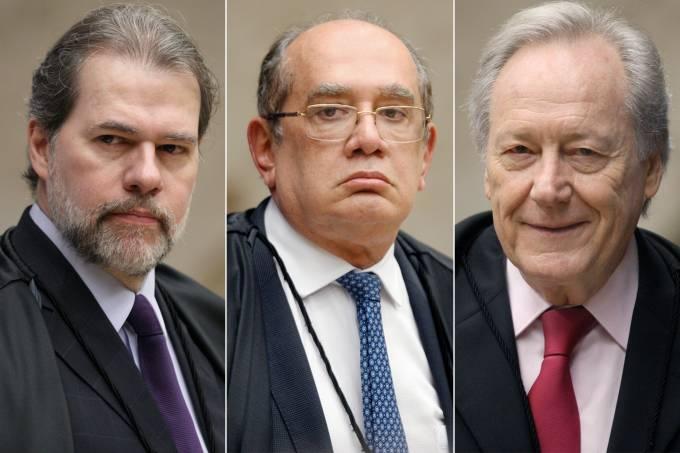 Dias Toffoli, Gilmar Mendes e  Ricardo Lewandovski