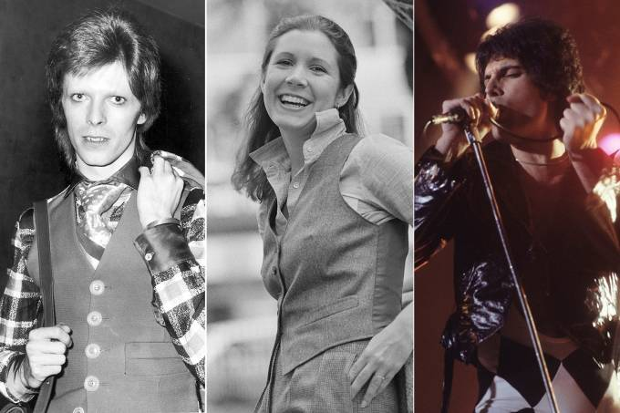 David Bowie, Carrie Fisher e Freddie Mercury