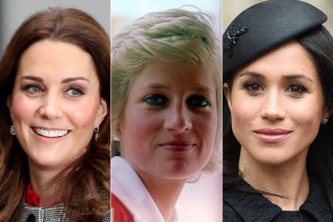 Kate Middleton, Lady Diana Spencer e Meghan Markle