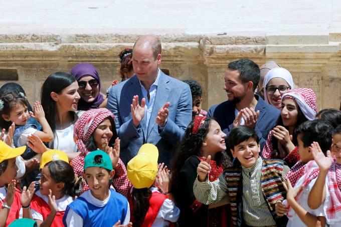 Príncipe William na Jordânia