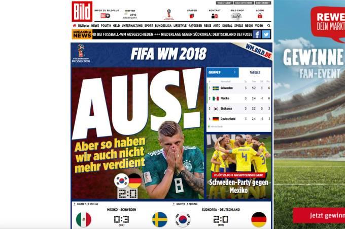 O jornal alemão Bild