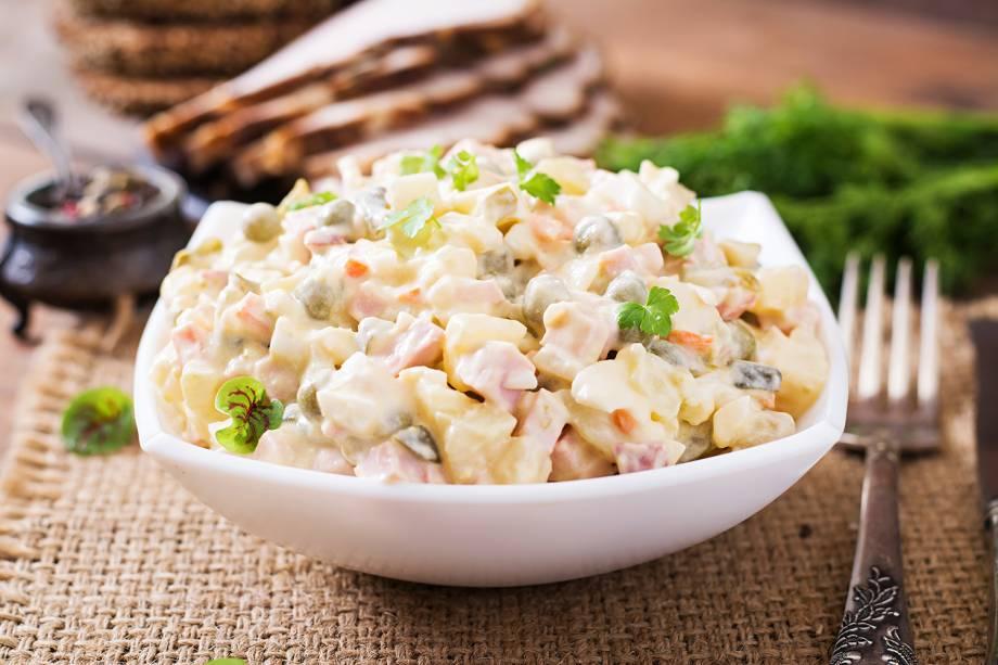 Pratos típicos da Rússia - Salada Olivier