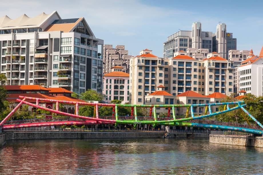 Ponte Alkaff em Robertson Quay, Singapura