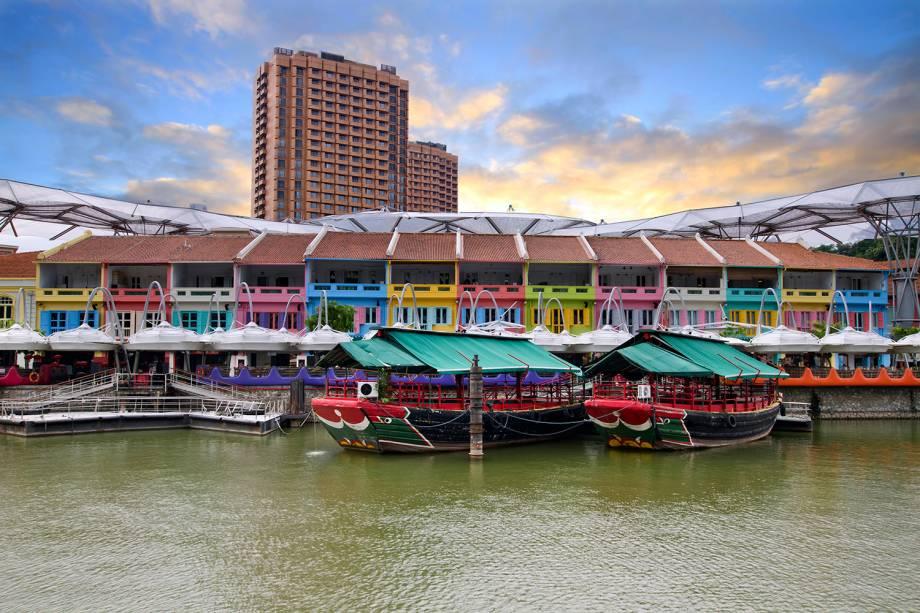 Casa históricas em Clarke Quay, Singapura