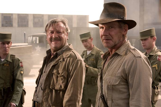 Cena do filme 'Indiana Jones e o Reino da Caveira de Cristal' (2008), com Harrison Ford
