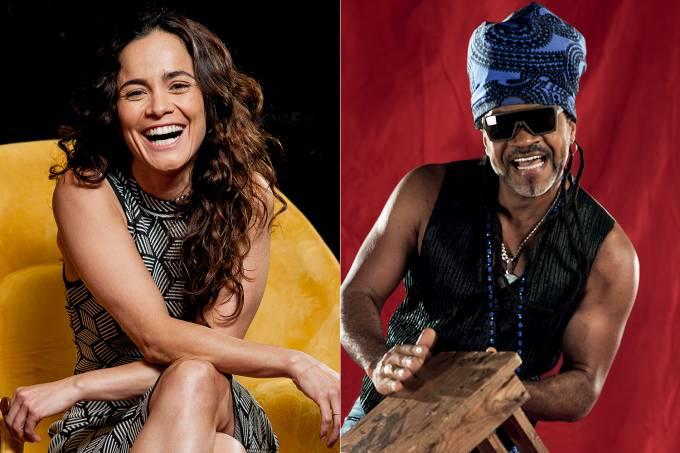 Alice Braga e Carlinhos Brown