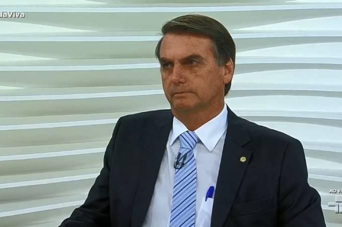 Bolsonaro em entrevista no 'Roda Viva'