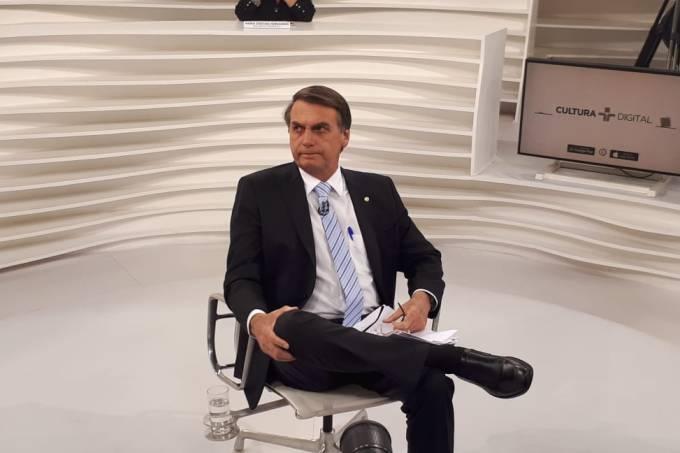 Jair Bolsonaro participa do 'Roda Viva', na TV Cultura