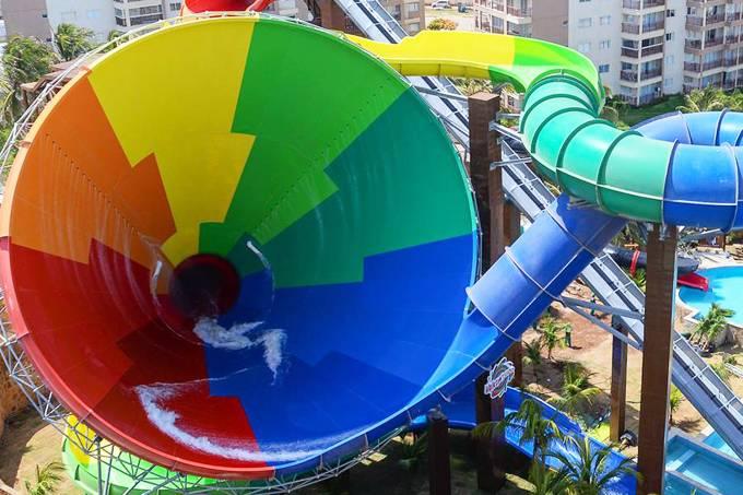 Projeto da atração Vainkará do Complexo Beach Park em Fortaleza, Ceará