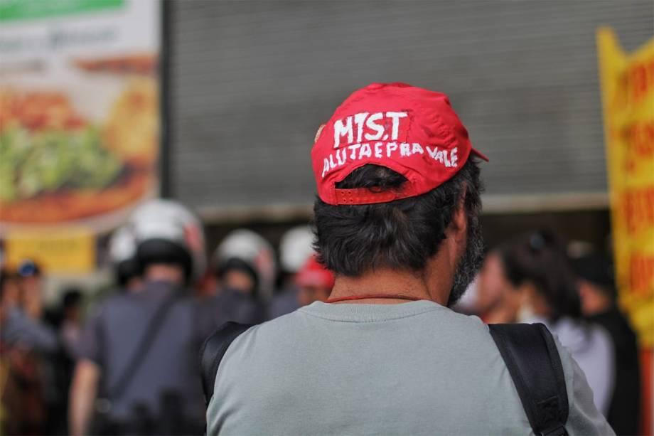 MTST ocupa sede da Caixa na Avenida Paulista, durante uma reivindicação por moradia digna - 06/07/2018