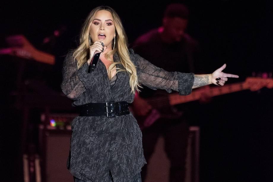 A cantora americana Demi Lovato realiza apresentação no parque California Mid-State Fair - 22/07/2018