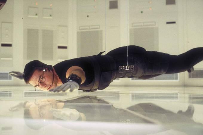 Cena do filme Missão Impossível de 1996