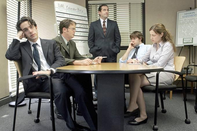 Cena da versão americana da série The Office
