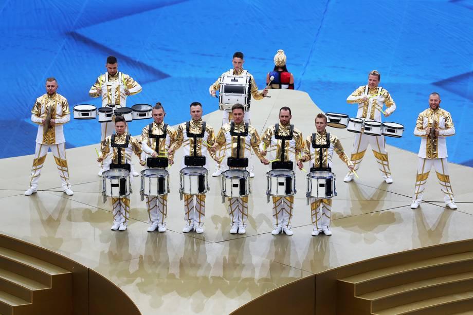 Cerimônia de encerramento da Copa do Mundo da Rússia, no Estádio Lujniki, em Moscou - 15/07/2018