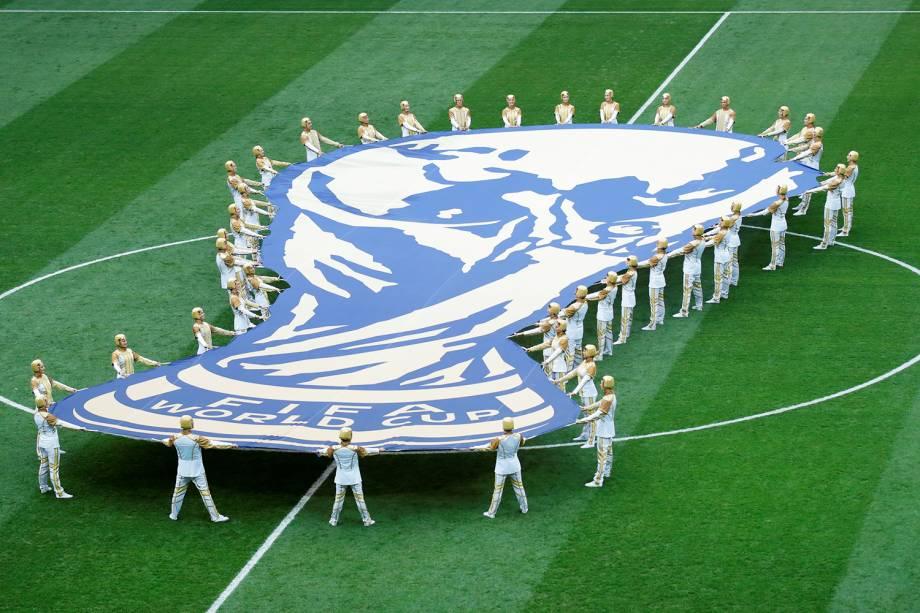 Cerimônia de encerramento da Copa do Mundo da Rússia, realizada no Estádio Lujniki, em Moscou  - 15/07/2018