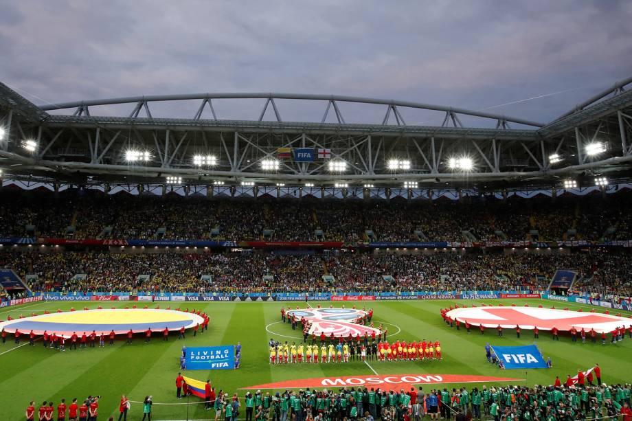 Vista geral do Estádio Spartak, antes de partida entre Colômbia e Inglaterra, válida pelas oitavas de final da Copa do Mundo - 03/07/2018