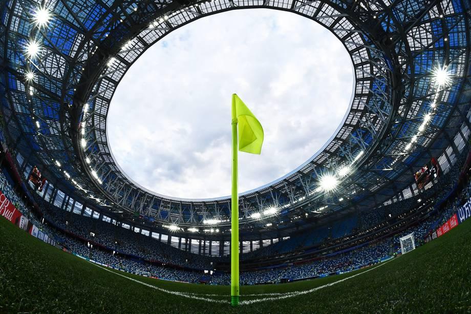 Estádio Níjni Novgorod recebe a partida entre Croácia e Dinamarca, válida pelas oitavas de final da Copa do Mundo - 01/07/2018
