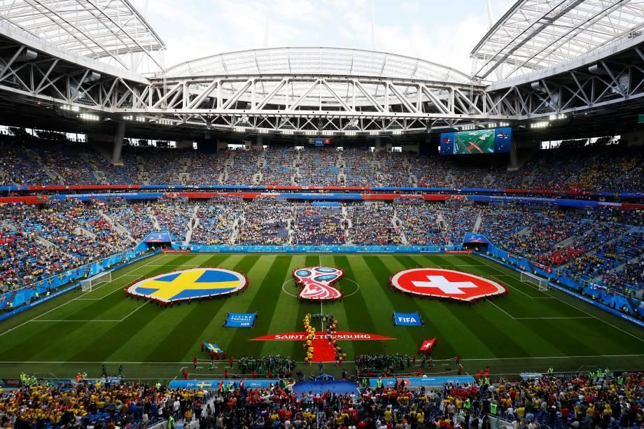 Suécia e Suíça decidem vaga para as quartas de final na arena São Petesburgo - 03/07/2018