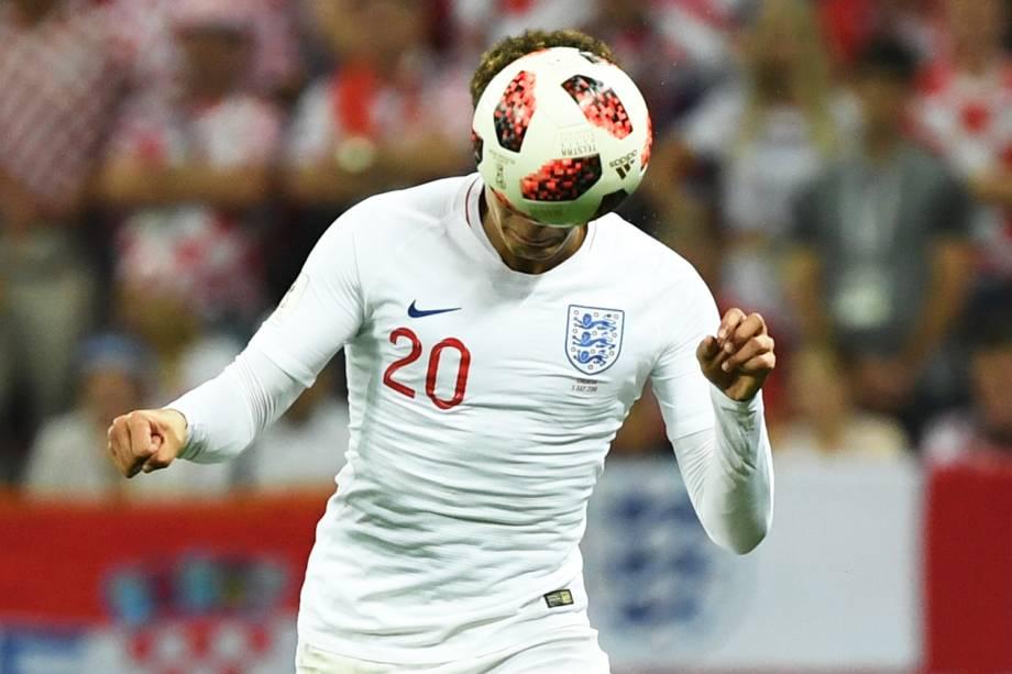 Dele Alli, jogador da Inglaterra, durante partida contra a Croácia, válida pelas semifinais da Copa do Mundo - 11/07/2018
