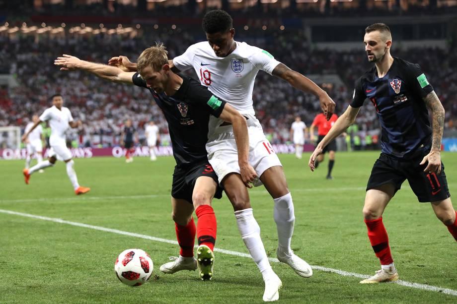 Partida entre Inglaterra e Croácia, válida pelas semifinais da Copa do Mundo, realizada no Estádio Lujniki, em Moscou - 11/07/2018