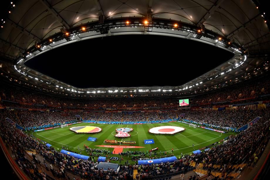 Visão geral da Arena Rostov antes do início da partida entre Bélgica e Japão - 02/07/2018
