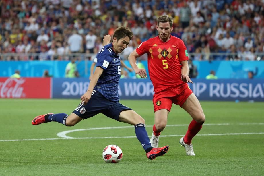Genki Haraguchi marca primeiro gol do Japão em partida contra a Bélgica - 02/07/2018