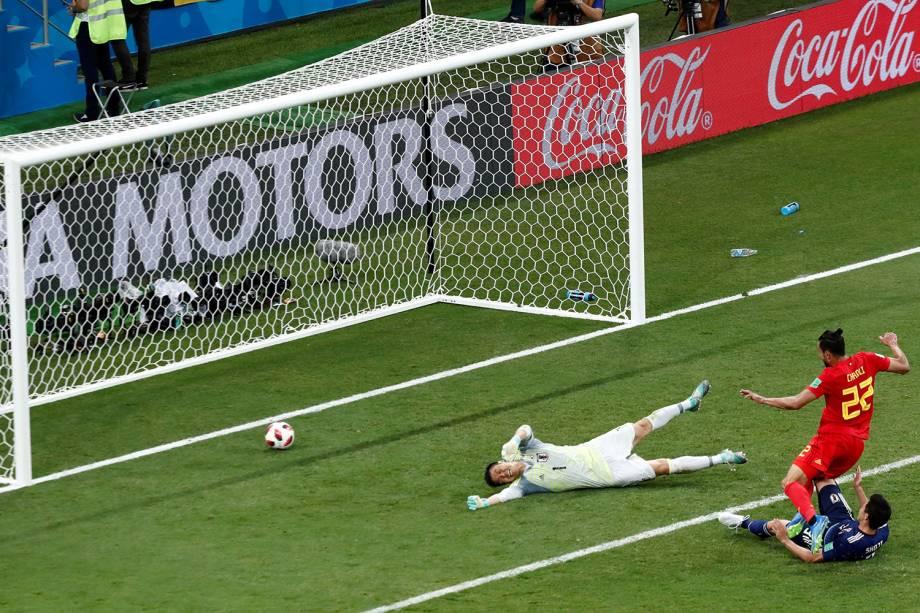 Nacer Chadli marca terceiro gol da Bélgica em partida contra o Japão - 02/07/2018