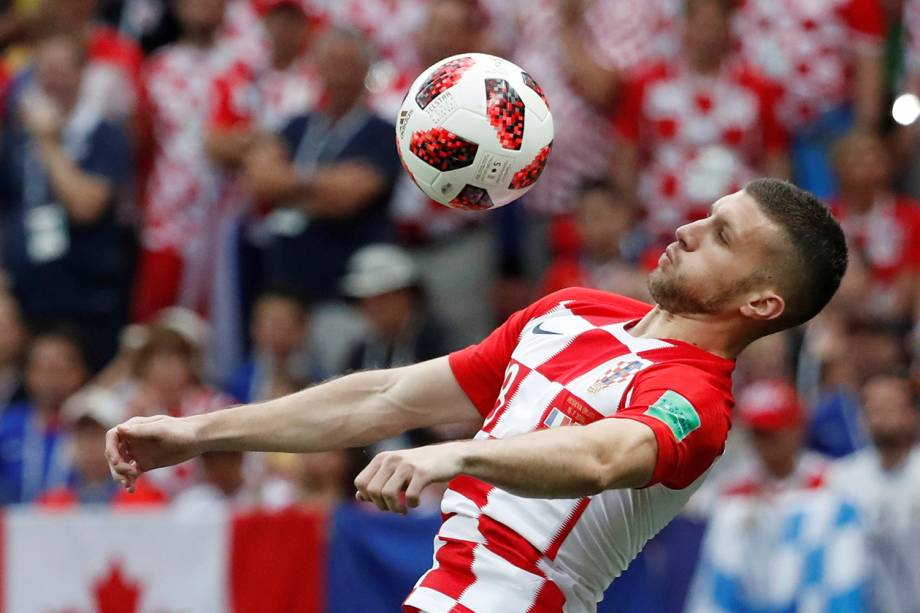 Ante Rebic da Croácia durante jogada na Final da Copa do Mundo 2018 no Estádio Lujniki - 15/07/2018