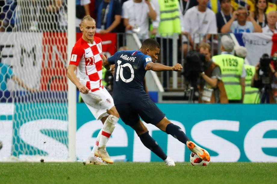 Kylian Mbappe marca quarto gol da França em partida contra a Croácia na Final da Copa do Mundo 2018 - 15/07/2018