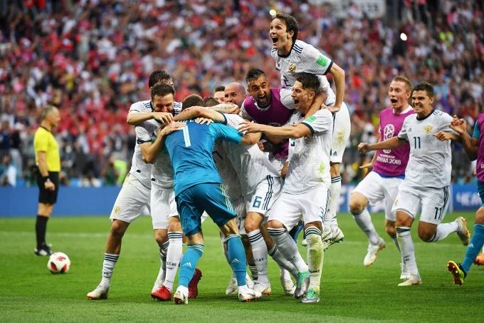 Copa do Mundo – Espanha x Rússia