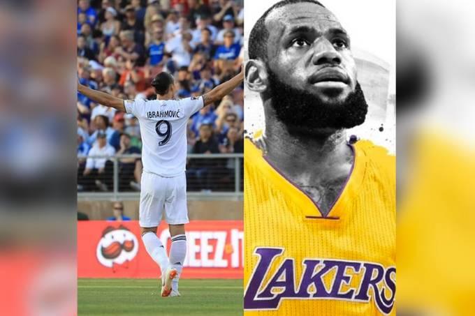 Ibrahimović deseja boas vindas à LeBron James