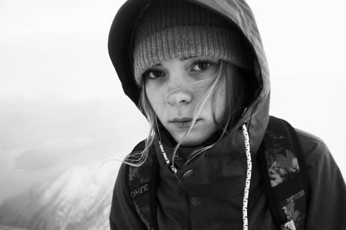 A snowboarder Ellie Soutter