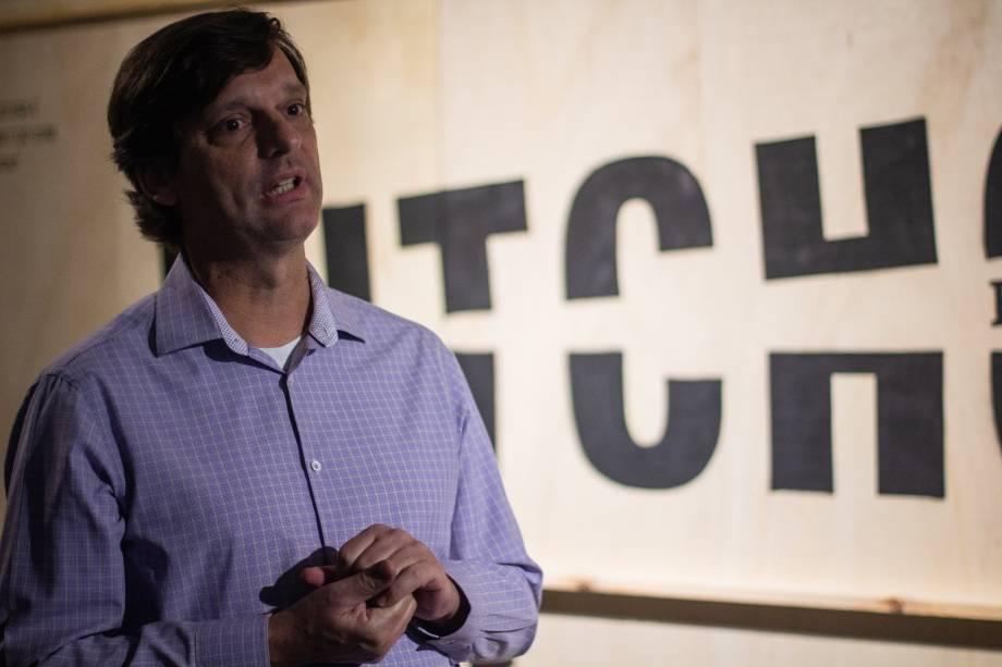 André Stürm, curador da exposição Hitchcock - Bastidores do Suspense no MIS - Museu da Imagem e do Som em São Paulo